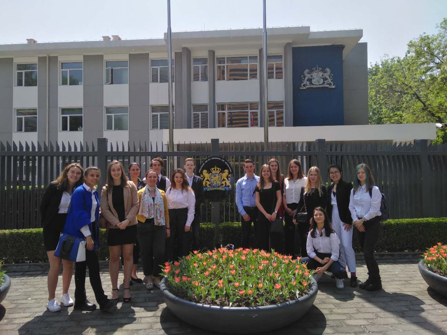 Globi trainees at the Dutch Embassy in Beijing